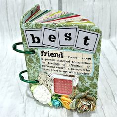 BEST FRIEND A-Z Friendship Scrapbook Photo Mini by Papersilly