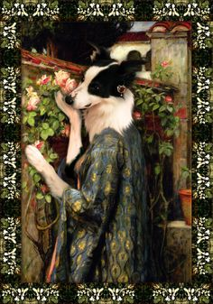 """Bella and her Art collection once again! """"The Soul of The Rose"""" is a painting by the famous Pre-Raphaelite John William Doghouse! Read below for more details. Christina Rossetti, Pre Raphaelite Brotherhood, Edward Burne Jones, John William Waterhouse, Tiffany Stained Glass, Famous Models, Dog Houses, Dog Art, Pet Portraits"""
