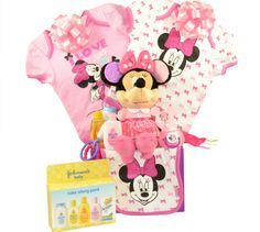 Minnie Mouse Baby Gift Basket