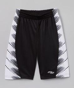 Black Line Shorts - Boys