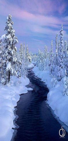 Drifting Snow along the Creek.