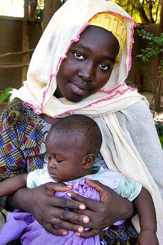 Bamako Girl & Baby--Nigeria, Africa
