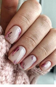 7 Creative And Elegant Pink Nail Designs With Glitter Accent - Want to create an artistic and elegant nail art idea to make you special? These Pink Nail Designs w - Simple Wedding Nails, Wedding Nails Design, Bridal Nail Design, Wedding Nails Art, Simple Nails, Wedding Makeup, Pink Nails, My Nails, Nude Nails With Glitter