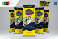 Check out Photography - Roll-Up Banner 2 by Cooledition on Creative Market - Graphic Nitro Letterhead Template, Brochure Template, Exhibition Banners, Pop Up Banner, Resume Words, Event Flyer Templates, Cool Business Cards, Corporate Flyer, Certificate Templates
