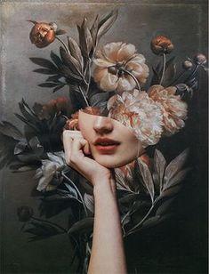 Surealism Art, Photographie Portrait Inspiration, Community Art, Portrait Art, Aesthetic Art, Purple Aesthetic, Collage Art, Flower Collage, Collage Photo