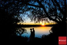 Sunset on the river, the perfect end to the perfect day, Milestone on the River Wedding Photographer