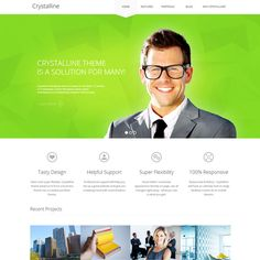 Crystalline WordPress Theme for Online Business | Best WordPress Themes 2013