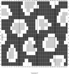 My leopard print tapestry square received so much love on Instagram, I thought I'd share the graph on here too, in case anyone wanted to ma...