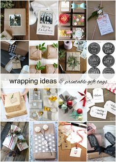 30 Gift Wrap Ideas and Printable Gift Tags cover