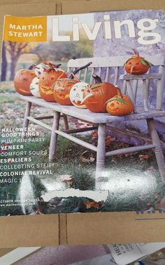Vintage Martha Stewart Living Magazine  October 1999 Harvest Fall Pumpkin