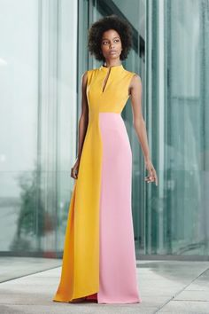 Akris Resort 2020 Fashion Show - Vogue Looks Street Style, Looks Style, Vogue Fashion, Fashion 2020, Vogue Paris, Color Blocking Outfits, Fashion Dresses, Dress Outfits, Dress Shoes