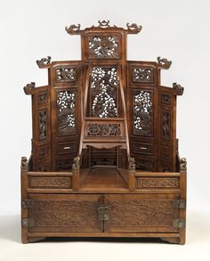 Mirror Cabinet and Cosmetic Chest - Medium: Rosewood (Huang hua li), metal. Place Made: China. Dates: late 17th-early 18th century. Dynasty: Qing Dynasty.