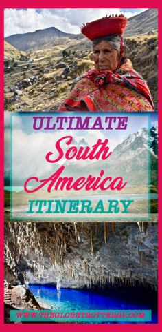 Your ULTIMATE South America Itinerary packed full of practical advice and pictures and photography to inspire your South American trip. Whether it be budget backpacking or a luxury vacation! South America has a lot to offer - culture, foods, beaches, amazon rainforest, animals, jungle, architecture, landscapes, wildlife… Use this South American bucket list to inspire your wanderlust and help you plan your travel itinerary. Bolivia | Galapagos | Peru | Chile | Argentina | Brazil | Colombia…