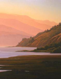 Northern California coastal landscape--original oil painting of Bolinas Lagoon http://terrysauve.com/available-painting/