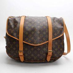 Louis Vuitton Saumur 43 Monogram Shoulder bags Brown Canvas M42252