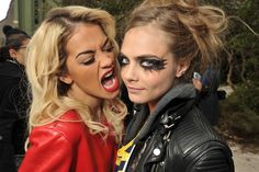 Rita Ora and Cara Delevingne Front Row at Chanel