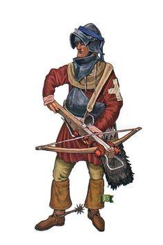Swiss crossbowman at the beginning of the Italian Wars. Schwyz