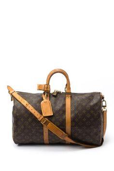 860385417 Louis Vuitton | Vintage Louis Vuitton Leather Keepall 45 Bandouliere |  HauteLook