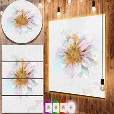 nice Designart 'Beautiful Flower with Yellow Stigma' Floral Metal Wall Art