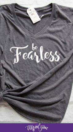 You don't have to be afraid with God on your side. | Cozy and comfortable Proverbs 31 shirts that uplift and inspire!