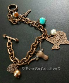 It's a Texas Thing: Bracelet 7.5 inches by EverSoCreative on Etsy