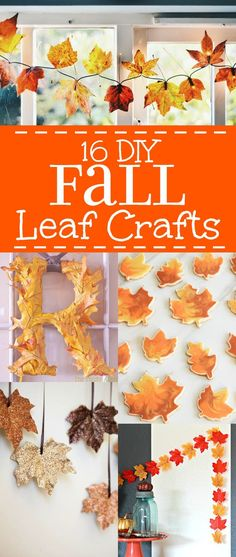 Beautiful DIY Fall Leaf Crafts that are cheap, easy to make, and perfect for decorating your home for the Autumn Season. Fall! It's almost here! Time for Back to School and pumpkin and beautiful Fall leaves! I just love decorating my house for Fall. I may even love it more than decorating for Christmas! All the bright colors: deep reds, burnt orange, bright yellow. So beautiful!   @graciouswife #fallcrafts #leafcrafts #diyfallcrafts #diyhomefallcrafts Fall Crafts For Kids, Thanksgiving Crafts, Thanksgiving Decorations, Holiday Crafts, Holiday Fun, Home Crafts, Fall Decorations, Halloween Decorations, Autumn Leaves Craft