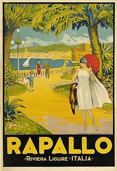 Vintage Italian Travel Poster, Poster Classics of France, Italian Travel Posters