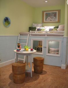 This would be cute for the dog cat s room enclosed quot pen quot under loft