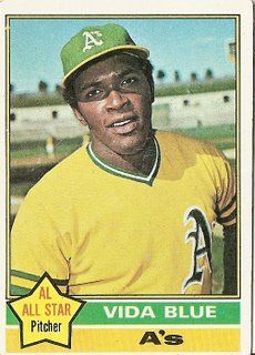 Vida Blue, pitcher for the Oakland A's in the 70's - we were (only for a brief time) in the same US Army Reserve unit, in Oakland, CA.