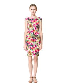 Image 2 of FLORAL PRINTED TUBE DRESS from Zara