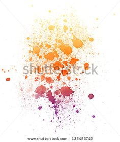 watercolor stain and splash by solarbird, via ShutterStock