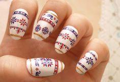 Winter nails sweater nails Japanese nail art holiday by Aya1gou