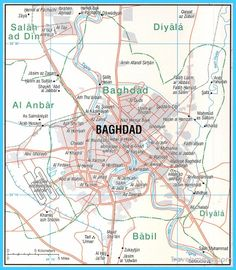nice map of baghdad