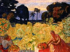 """Garden of the Mediterranean"" Pierre Bonnard Pierre Bonnard, Maurice Denis, Paul Gauguin, Garden Painting, Painting & Drawing, Painting Lessons, Paul Klee Art, Beaux Arts Paris, Art Populaire"
