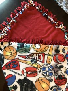 """Sports themed Fleece blanket 50"""" x 64""""  for you washable and reversible by GeeGeeGoGo on Etsy https://www.etsy.com/listing/553811280/sports-themed-fleece-blanket-50-x-64-for"""