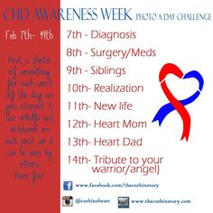 Help spread awareness of the most common #birthdefect! #1in100 #chdweek