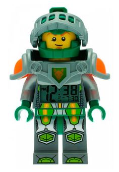 Reloj despertador Aaron. Lego Nexo Knights. ClicTime A los peques de la casa les gustará este recuerdo en forma de reloj despertador con la apariencia del personaje de Aaron visto en la serie animada de TV Lego Nexo Knight.