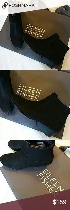 Eileen Fisher Peer Block Heel Booties Sz 7 New Eileen Fisher Shoes Ankle Boots & Booties
