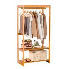 closet pequeno e barato com poucas roupas Small Furniture, Handmade Furniture, Wood Furniture, Interior Design Living Room, Interior Livingroom, Kitchen Interior, Wardrobe Rack, Bedroom Decor, Decoration