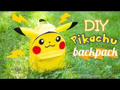 How To Make A Pikachu Backpack – DIY School Supplies in Pokemon Go Style - YouTube