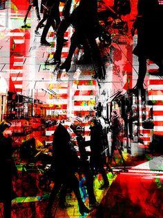 'Hectic rush' von Gabi Hampe bei artflakes.com als Poster oder Kunstdruck $20.79