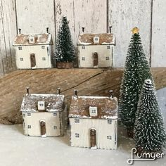"""14 Likes, 1 Comments - Shabby Daisies (@lorainespick) on Instagram: """"Christmas cottages #shabbydaisies #shabbychic #snow#christmas #handmade #rustic…"""""""