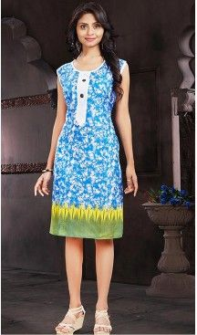 Cotton Aqua Blue Color Daily Wear Readymade Kurtis | FH480774192 #kurtis , #kurtas , #tunic , #top , #fashion , #clothing , #women , #heenastyle , #ladies , @heenastyle , #teenagers , #girls , #style , #mode , #mehendi