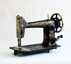 Antique Old Vintage Sewing Machine for Interior Design by OllyOxes, $110.00