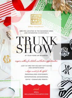 Host an Emily McCarthy Trunk Show for the Holidays! (Savannah)