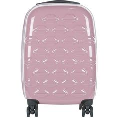 Lulu Guinness Hard Sided 4-Wheel Cabin Case (£200) ❤ liked on Polyvore featuring bags and luggage