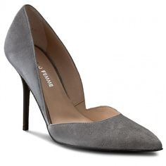 Pantofi cu toc subțire SOLO FEMME - 34260-56-E37/000-04-00 Gri