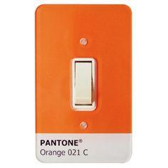 Light Switch Acrylic Mirror Pantone Orange