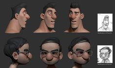 Here is a part of my work on Bigfoot junior. Game Character Design, Comic Character, Character Concept, 3d Cartoon, Cartoon Characters, Modelos 3d, Animation Reference, Character Modeling, Gay Art
