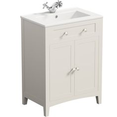 The Bath Co. Camberley satin ivory vanity unit with basin Bathroom Storage Units, White Vanity Bathroom, Bathroom Vanity Cabinets, Bathroom Light Bar, Vanity Light Bar, Bathroom Ideas, Contemporary Bathroom Furniture, Basin Vanity Unit, Yellow Bathrooms